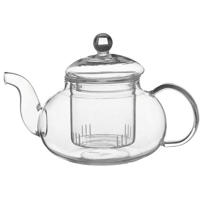 """Чайник заварочный со стеклянным ситом """"Валенсия"""" 600 мл"""