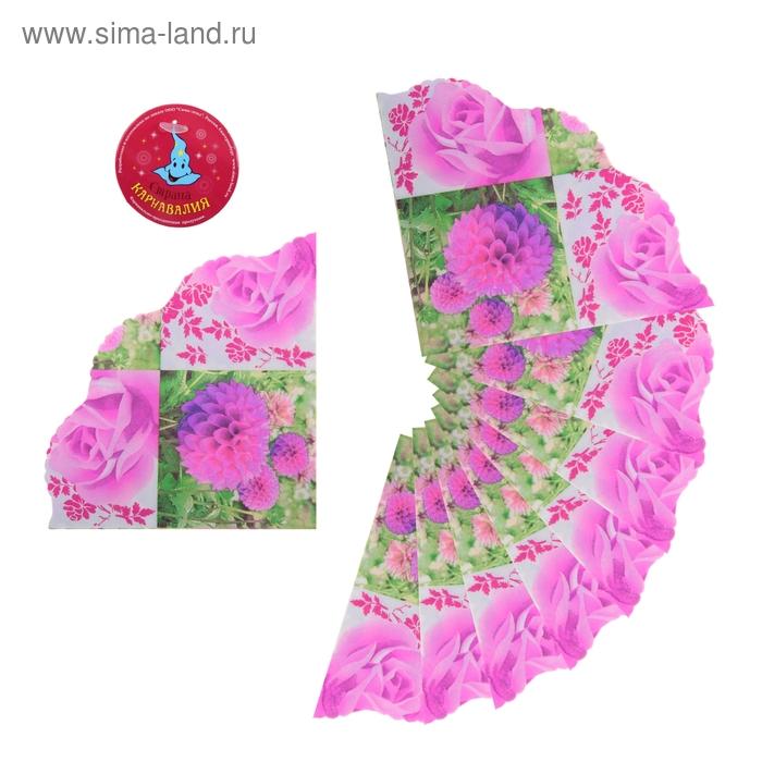 """Салфетки бумажные, вырезные (набор 20 шт) """"Цветы"""", 33*33 см"""