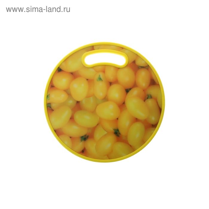 """Доска разделочная d=30 см """"Желтые помидоры"""""""