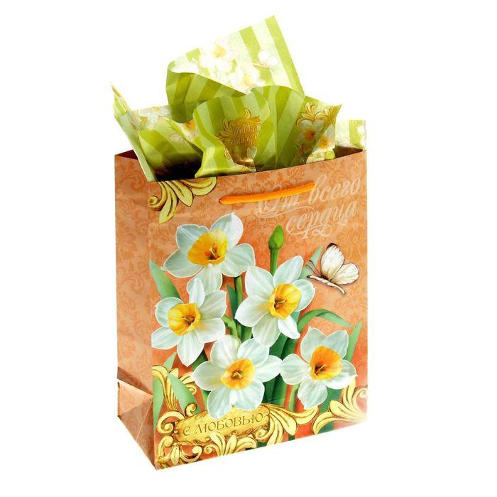 Набор для упаковки подарка «Очаровательный нарцисс», MS 18 × 23 × 8 см