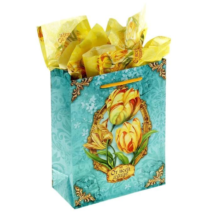 Набор для упаковки подарка «Роскошный тюльпан», MS 18 × 23 × 8 см