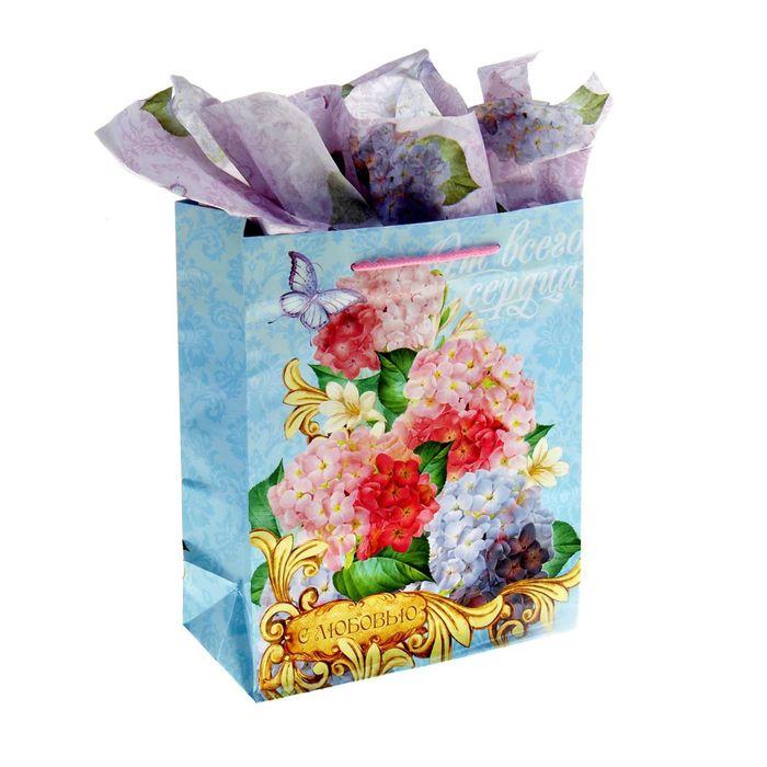 Набор для упаковки подарка «Восхитительные цветы», MS 18 × 23 × 8 см