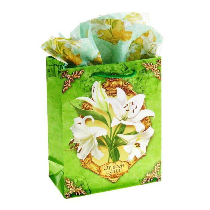 Набор для упаковки подарка «Нежная лилия», MS 18 × 23 × 8 см