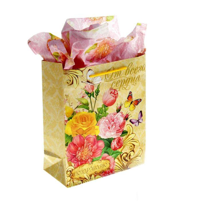 Набор для упаковки подарка «Летний сад», MS 18 × 23 × 8 см