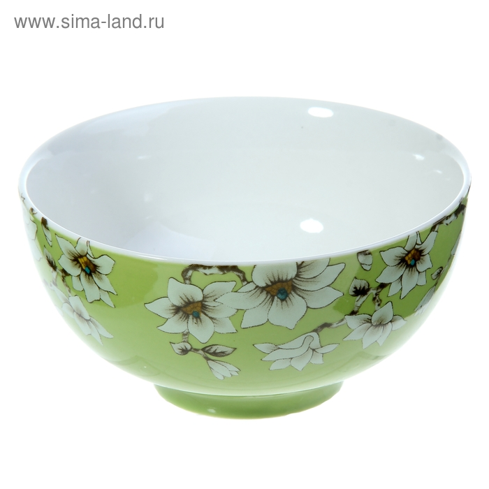 """Миска """"Нарцисс"""" 400 мл 13х6,5 см, зеленый"""