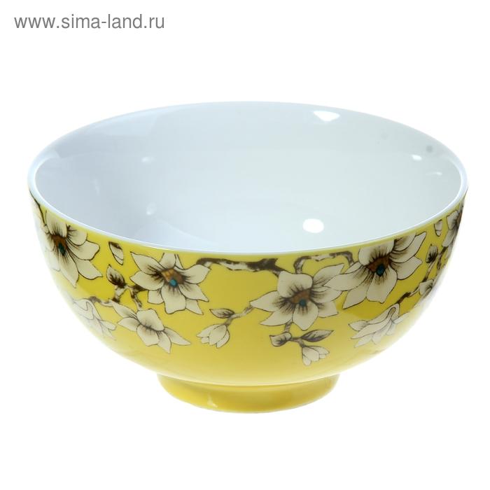 "Миска ""Нарцисс"" 400 мл 13х6,5 см, желтый"