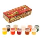Краска акриловая, набор тематический, 9 цветов по 20 мл, Аква-Колор, «Золотые узоры» + лак