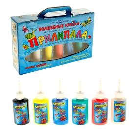 Краска по стеклу витражная, аппликация, «Прилипала», набор, 6 цветов х 50 мл, «Аква-Колор», морозостойкая