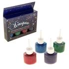 Лак для декорирования водополимерный Glitter набор 4 цветов*25 мл Искорка №2 К2711