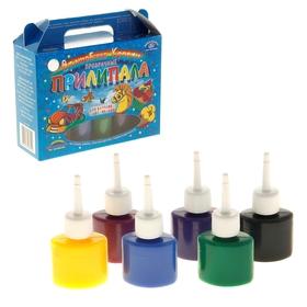 Краска по стеклу витражная Аппликация «Прилипала»,, набор 6 цветов по 25 мл «Аква-Колор» Ош