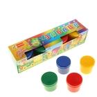 Краски пальчиковые набор 4 цвета*120 мл Спектр 480 мл Яркая забава (от 3-х лет) 05С-501