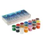 Краска акриловая, набор из 18 цветов по 20 мл, Аква-Колор, 360 мл, художественно-оформительская