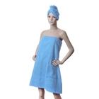 Компл./сауна ITUMA жен. Бирюза (юбка, челма) махра, 380 гр/м