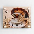 """Часы настенные прямоугольные """"Ракушка"""", 20х26 см микс"""