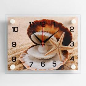 """Часы настенные, серия: Море, """"Ракушка"""", 20х26  см, микс"""