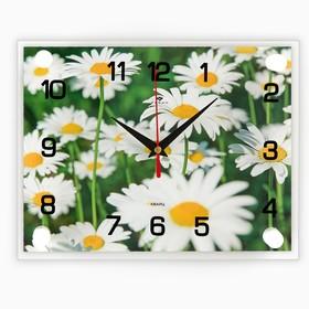 """Часы настенные, серия: Цветы, """"Ромашки"""", 20х26  см, микс"""