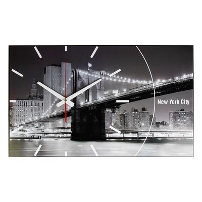 """Часы-картина настенные """"New York City"""", 61х37 см"""