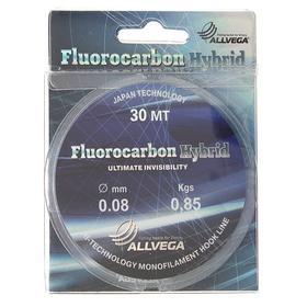 Allvega Fluorocarbon Hybrid line 0.08 mm, 30 m