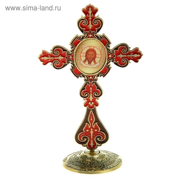 """Крест на подставке с иконой """"Спас Нерукотворный"""""""
