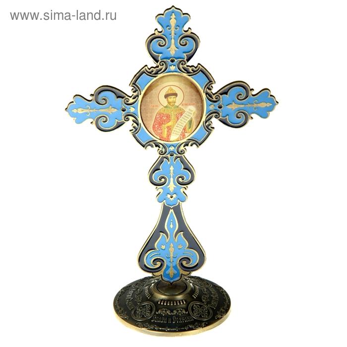 """Крест на подставке с иконой """"Страстотерпец Царь Николай"""""""