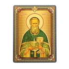 """Икона """"Святой праведный Иоанн Кронштадтский"""", 3D, с клеящейся основой"""