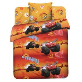 Детское постельное бельё 1,5 сп. «Молния Маккуин»