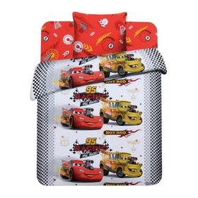 Детское постельное бельё 1,5 сп Disney Крутые Тачки, 150х215см, 145х215см, 70х70см - 1шт