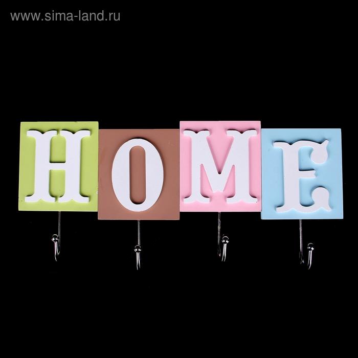 Вешалка декоративная на 4 крючка Home