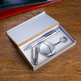Набор подарочный 3в1: ручка, нож 3в1, мини набор отверток Ош