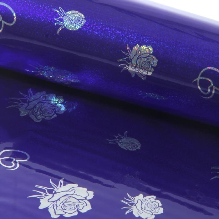 """Пленка голография """"Букет"""", фиолетовый, 70 х 100 см"""