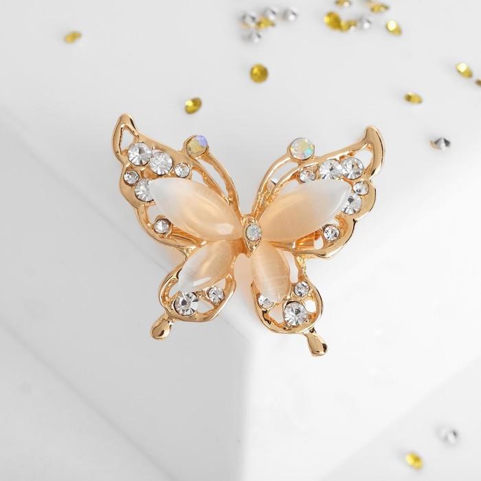 """Брошь """"Бабочка"""", цвет радужный в золоте - фото 274887222"""