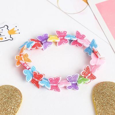 """Bracelet child """"Vibracula"""" butterfly whirl, MIX color"""