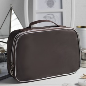 Cosmetic bag road, 2 Department of zippered, with a mirror brown color