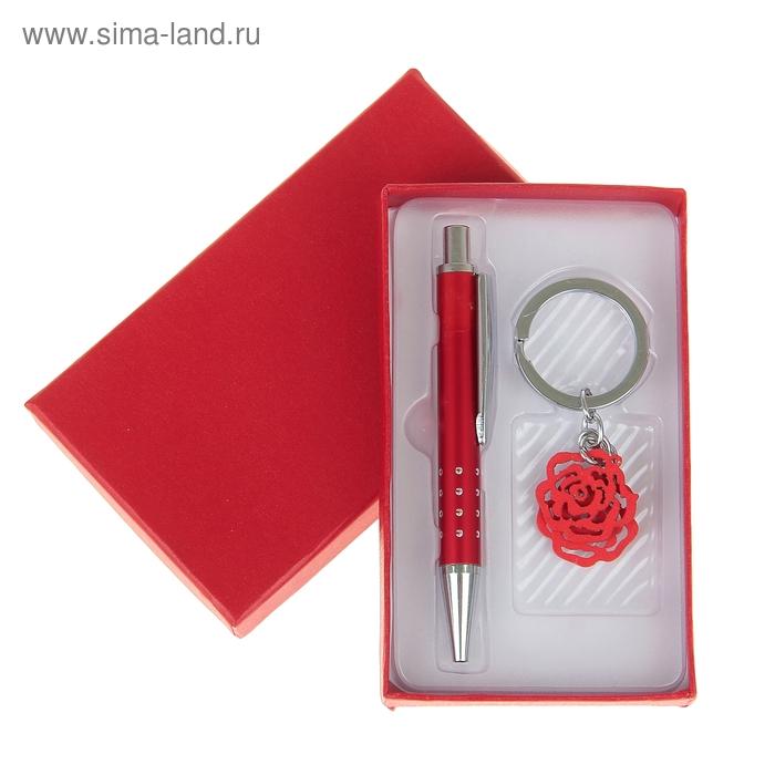 """Набор подарочный 2в1: ручка, брелок """"Роза"""""""