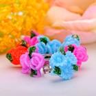 """Кольцо детское """"Выбражулька"""" цветочная поляна, форма МИКС, цвет МИКС, безразмерное"""