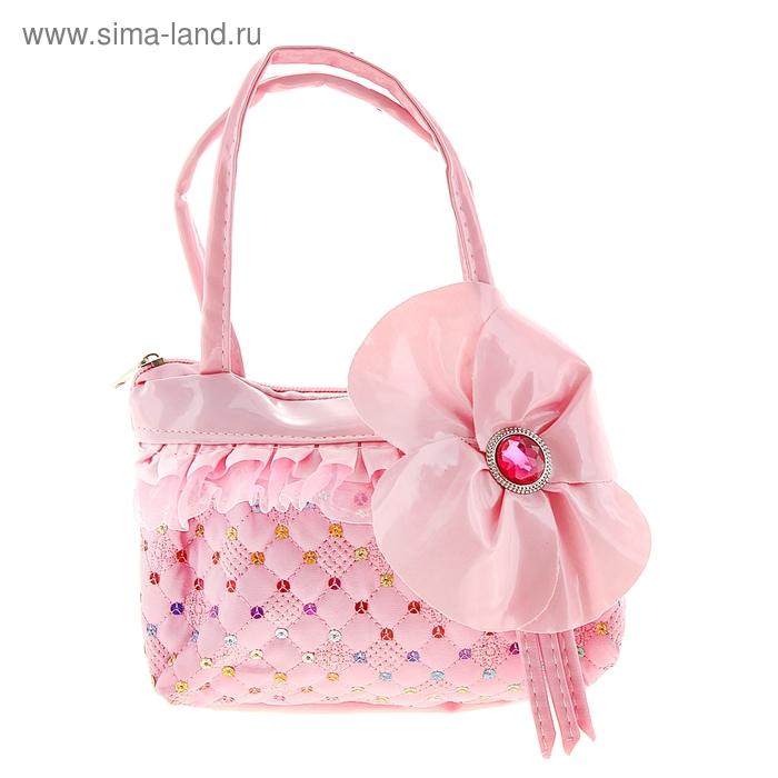 """Сумка детская """"Амина"""", 1 отдел на молнии, цвет розовый"""