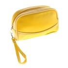 """Косметичка-ассорти """"Джинс"""", 1 отдел на молнии, с ручкой, с зеркалом, цвет жёлтая"""