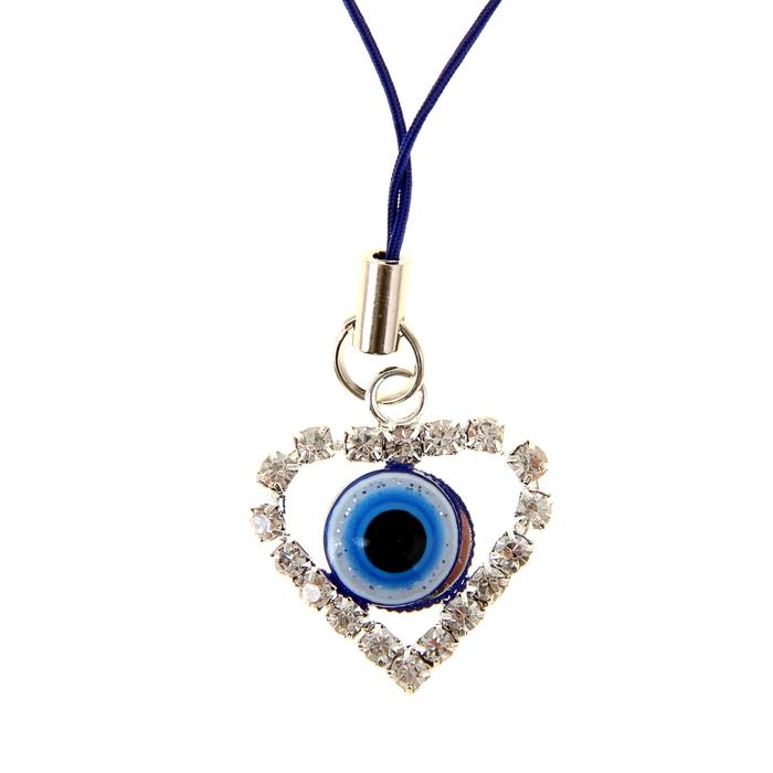 """Подвеска """"Турецкий глаз - драгоценное сердце"""""""