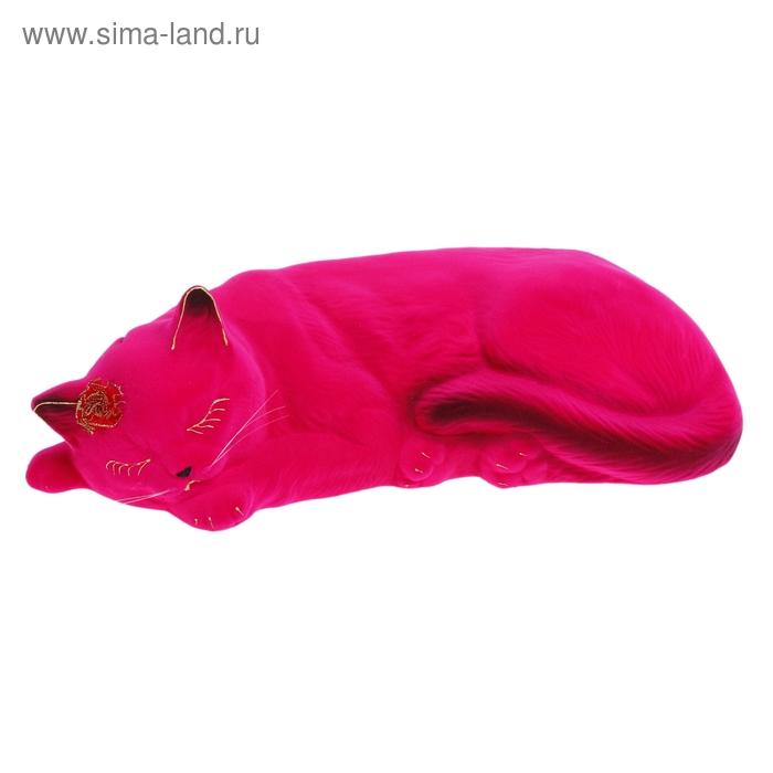 "Копилка ""Кошка Марта"" флок, розовая"