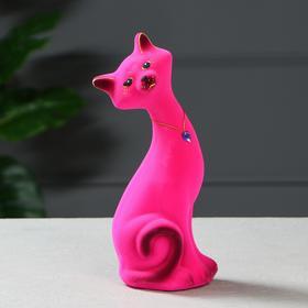 """Копилка """"Кот Маркиз"""", покрытие флок, розовая, 30 см, микс"""