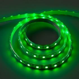 Светодиодная лента 220В, SMD5050, 5 м, IP65, 60 LED, 11 Вт/м, 16-18 Лм/1 LED, AC, ЗЕЛЁНЫЙ