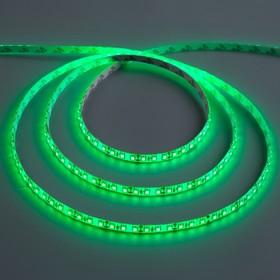 Светодиодная лента 12В, SMD3528, 5 м, IP65, 120 LED, 9.6 Вт/м, 6-7 Лм/1 LED, DC, ЗЕЛЁНЫЙ