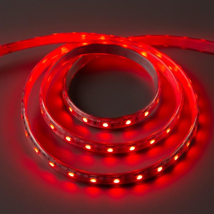 Светодиодная лента 220В, SMD5050, 5 м, IP65, 60 LED, 11 Вт/м, 16-18 Лм/1 LED, AC, КРАСНЫЙ