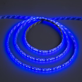 Светодиодная лента 12В, SMD3528, 5 м, IP65, 120 LED, 9.6 Вт/м, 6-7 Лм/1 LED, DC, СИНИЙ
