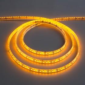Светодиодная лента 12В, SMD3528, 5 м, IP68, 120 LED, 9.6 Вт/м, 6-7 Лм/1 LED, DC, ЖЁЛТЫЙ