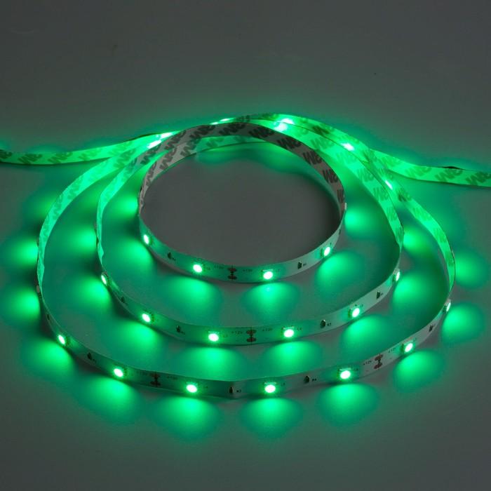 Светодиодная лента 12В, SMD5050, 5 м, IP33, 30 LED, 7.2 Вт/м, 14-16 Лм/1 LED, DC, ЗЕЛЁНЫЙ