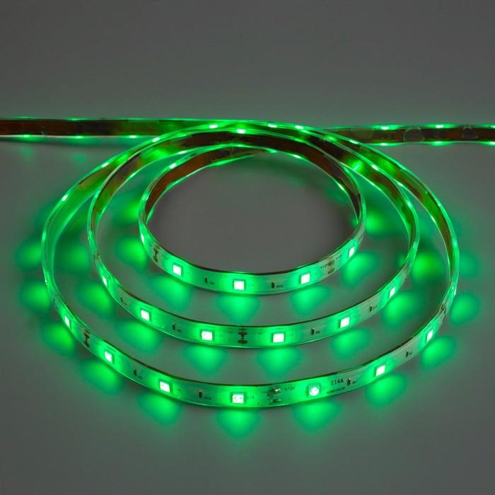 Светодиодная лента 12В, SMD5050, 5 м, IP68, 30 LED, 7.2 Вт/м, 14-16 Лм/1 LED, DC, ЗЕЛЁНЫЙ