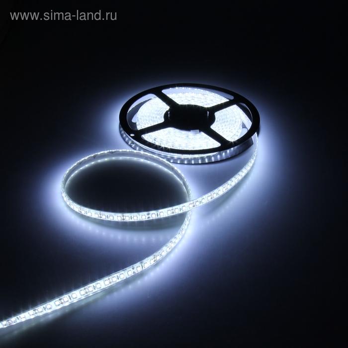 Светодиодная лента 12В, SMD3528, 5 м, IP68, 120 LED, 9.6 Вт/м, 6-7 Лм/1 LED, DC, БЕЛЫЙ