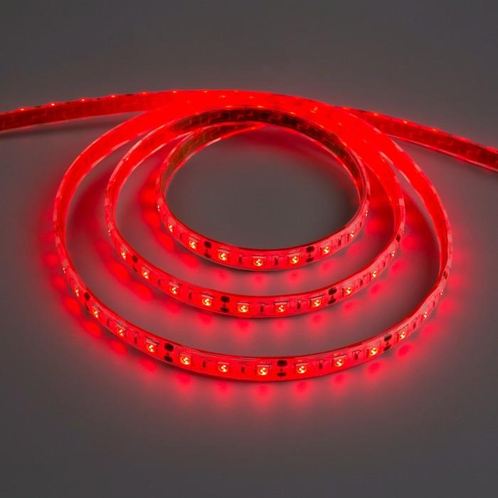 Светодиодная лента 12В, SMD5050, 5 м, IP68, 60 LED, 14.4 Вт/м, 14-16 Лм/1 LED, DC, КРАСНЫЙ