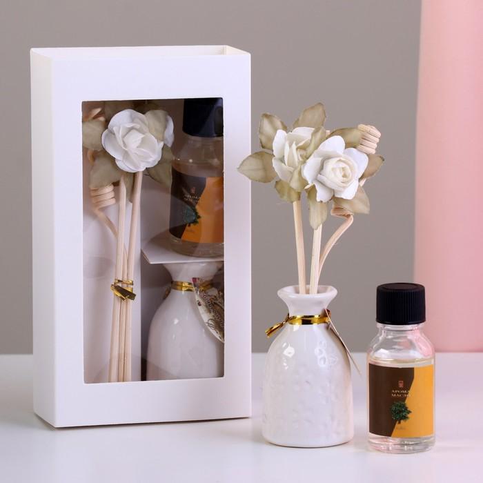 """Подарочный набор с аромамаслом 15 мл """"Ваза с цветком"""", аромат сандал"""